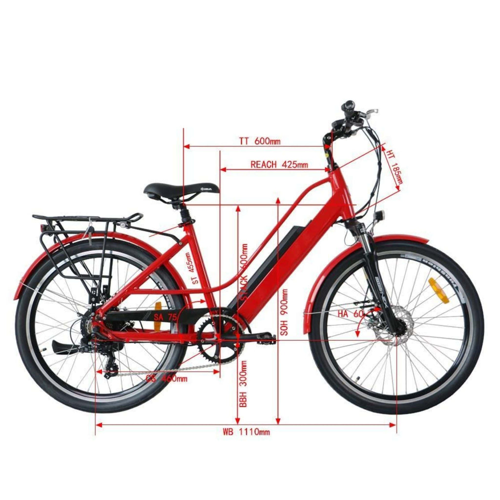 Eunorau E-Torque Step Through Electric Bike specs