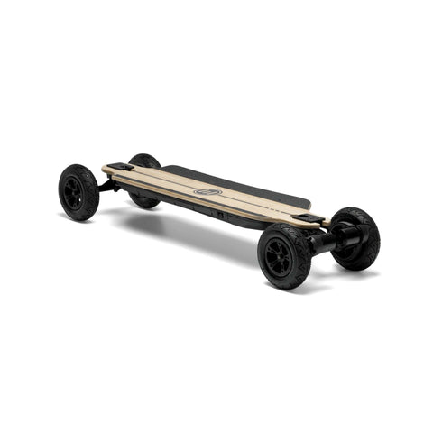 Evolve Bamboo GTR 2 in 1 Electric Skateboard front angle AT View