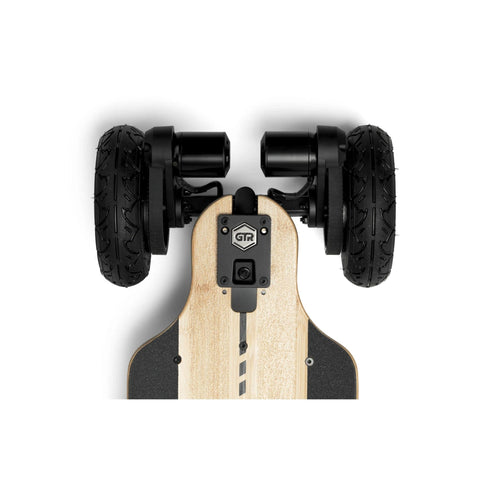 Image of Evolve Bamboo GTR 2 in 1 Electric Skateboard drive train view