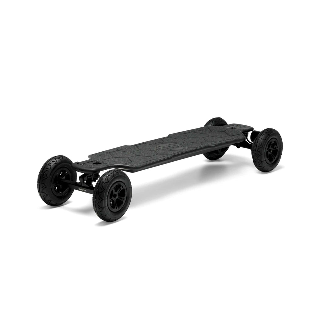 Evolve Carbon GTR Street Electric Skateboard front AT wheels