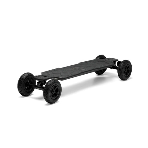 Image of Evolve Carbon GTR Street Electric Skateboard front AT wheels