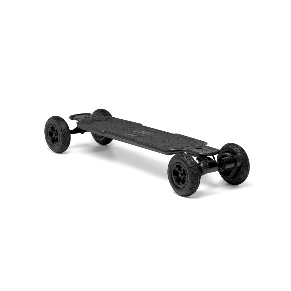Evolve Carbon GTR Street Electric Skateboard AT front angle view