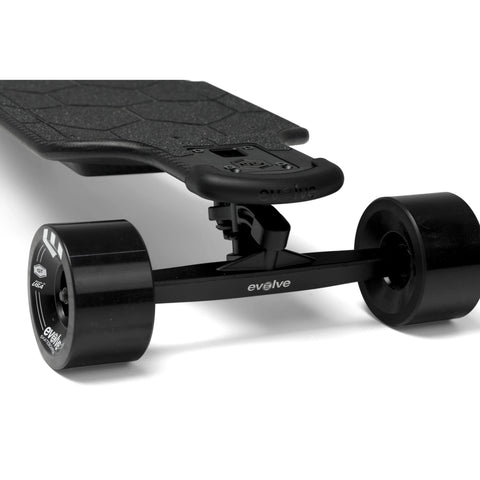 Evolve Carbon GTR Street Electric Skateboard streets front close up