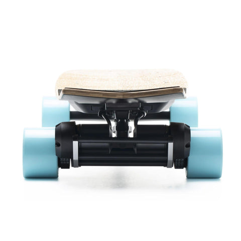 Image of Evolve Stoke Electric Skateboard wheels rear view