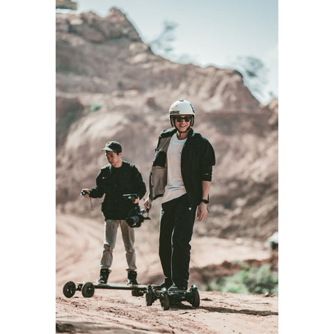 Image of Exway Atlas Electric Skateboard action shot