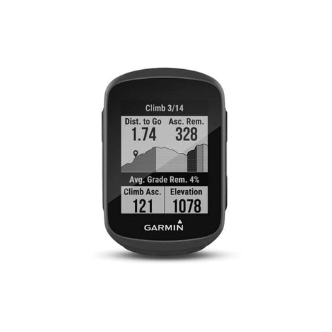 Image of Garmin Edge 130 Plus Bike Computer front climb specs
