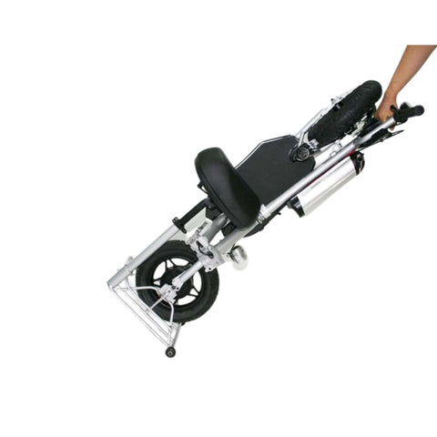 Image of Glion Balto Electric Scooter folded wheeling