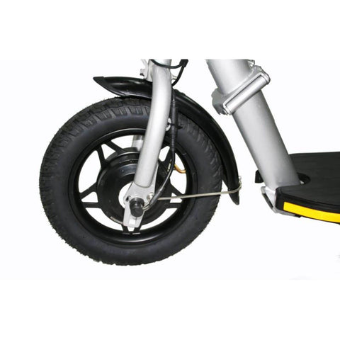 Image of Glion Balto Electric Scooter front wheel