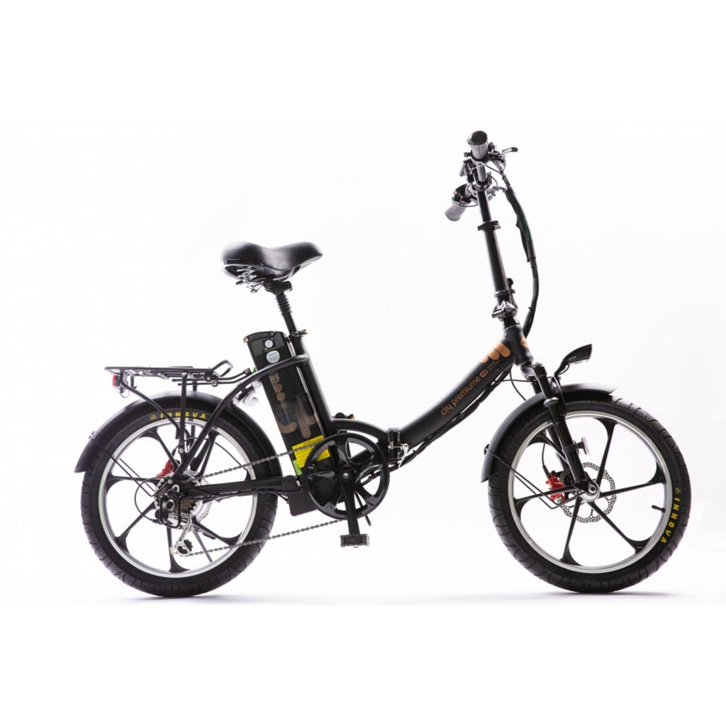 GreenBike City Premium Electric Bike Black Side View