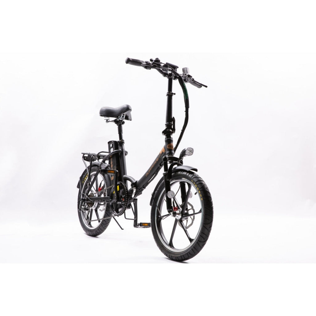 GreenBike City Premium Electric Bike Black Front View