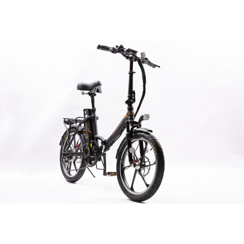 Image of GreenBike City Premium Electric Bike Black Front View