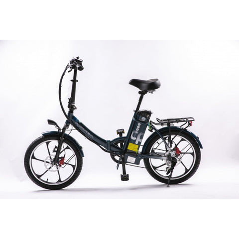 Image of GreenBike City Premium Electric Bike Blue Side View