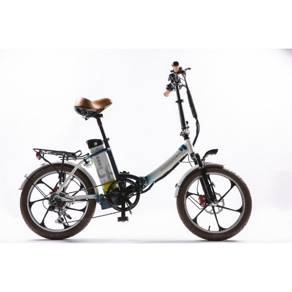 GreenBike City Premium Electric Bike White Side View