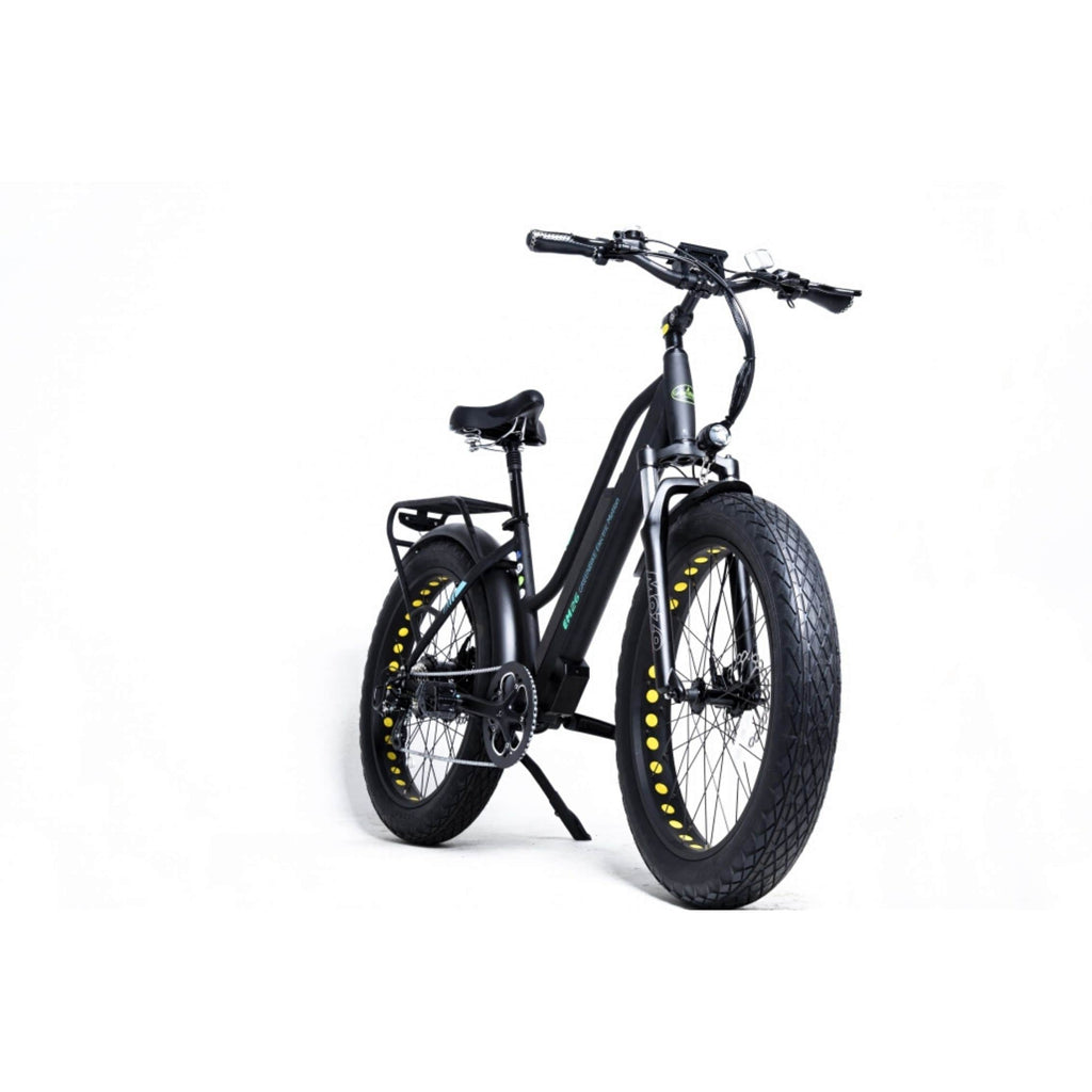 GreenBike EM26 Electric Bike Black Side View