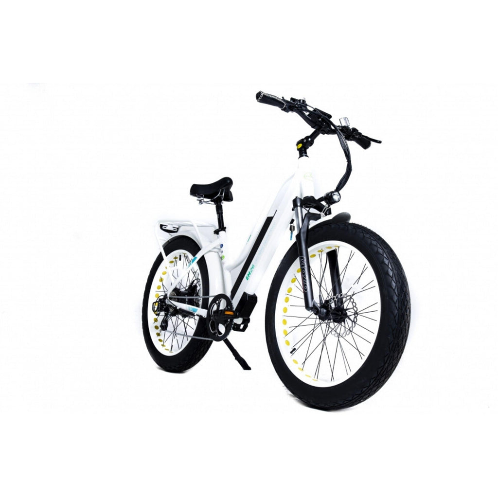 GreenBike EM26 Electric Bike White Side View