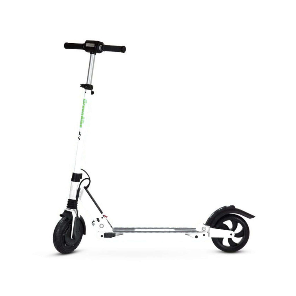 GreenBike X1 Electric Scooter White Side View