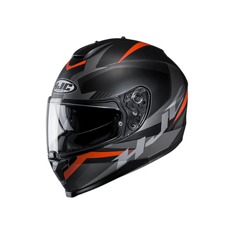 Image of HJC C70 Motorbike Helmets black and red