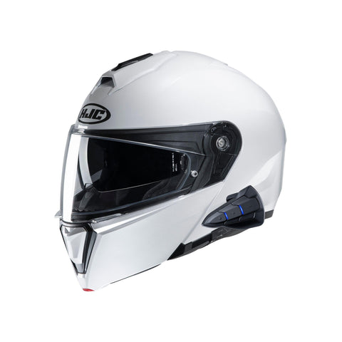 Image of HJC Smart white helmet side