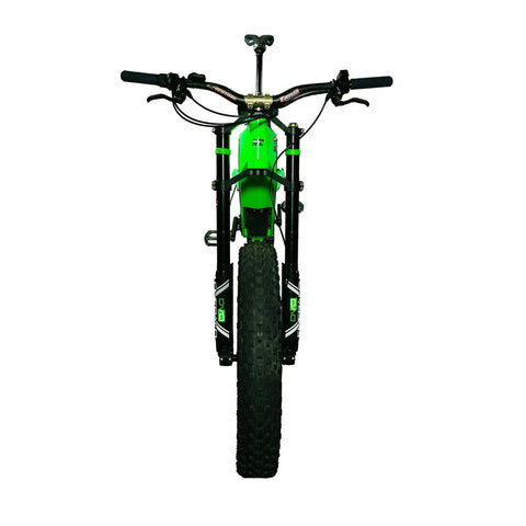 HPC Revolution AT Electric Bike green front wheel