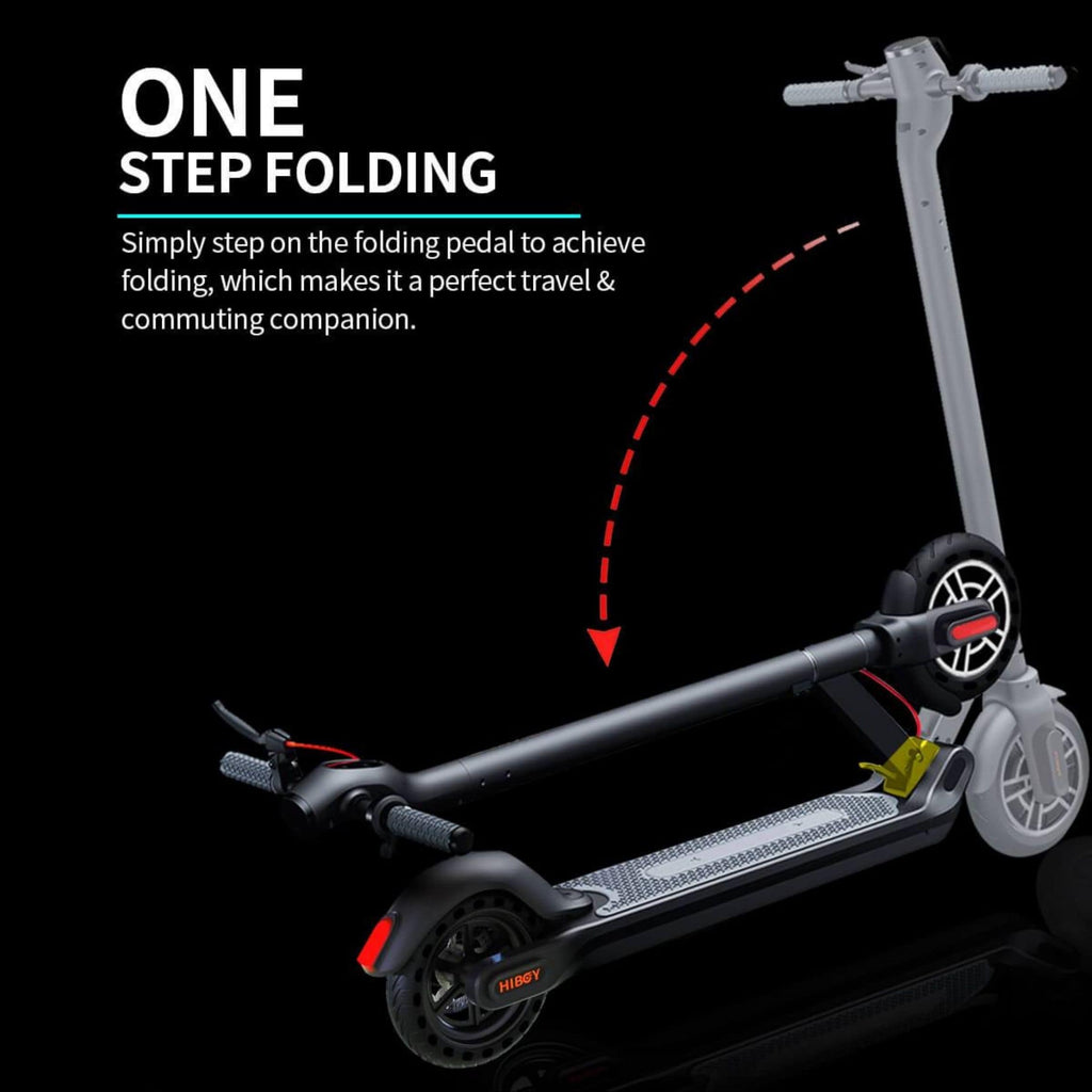 Hiboy Max Electric Scooter folded
