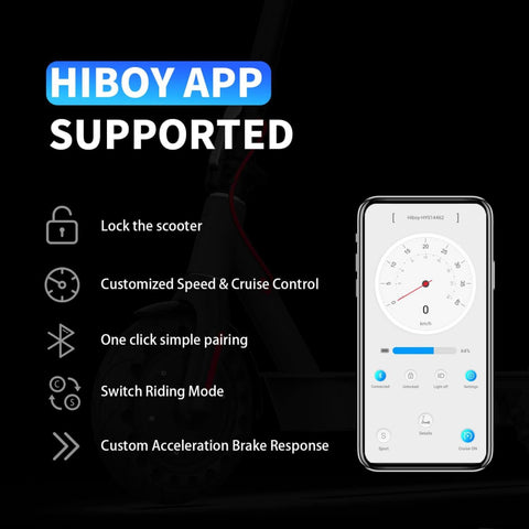 Hiboy S2 Electric Scooter app control