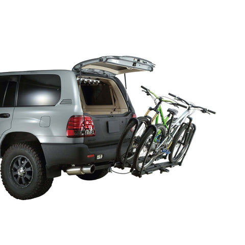 Image of INNO Tire Hold 2 Hitch Bike Rack easy tilt