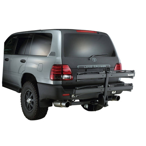 Image of INNO Tire Hold 2 Hitch Bike Rack folded on vehicle