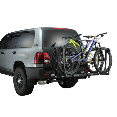 Image of INNO Tire Hold 2 Hitch Bike Rack rear on car