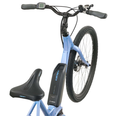 Image of IZIP Vibe 2.0 Step-Thru Electric Bike battery top view
