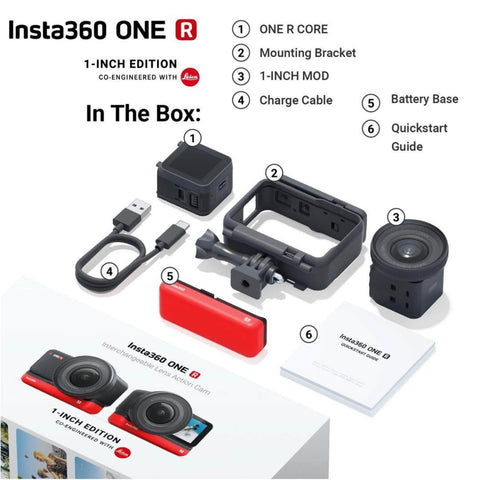 Image of Insta360 One R 1 inch edition what's in the box