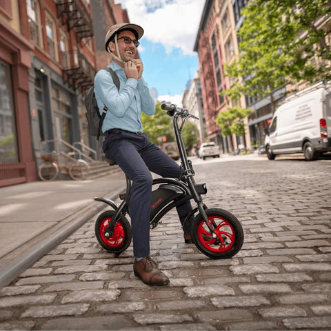 Jetson Bolt Electric Bike with guy