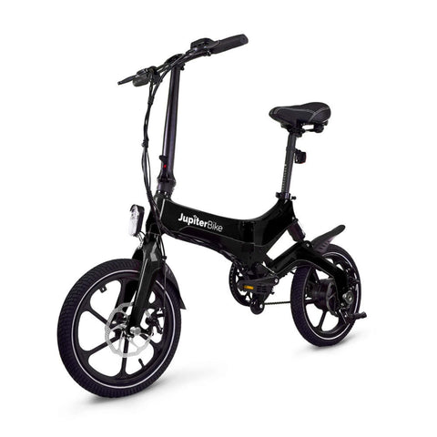 Image of Jupiter Discovery X5 Foldable Electric Bike black front angle view
