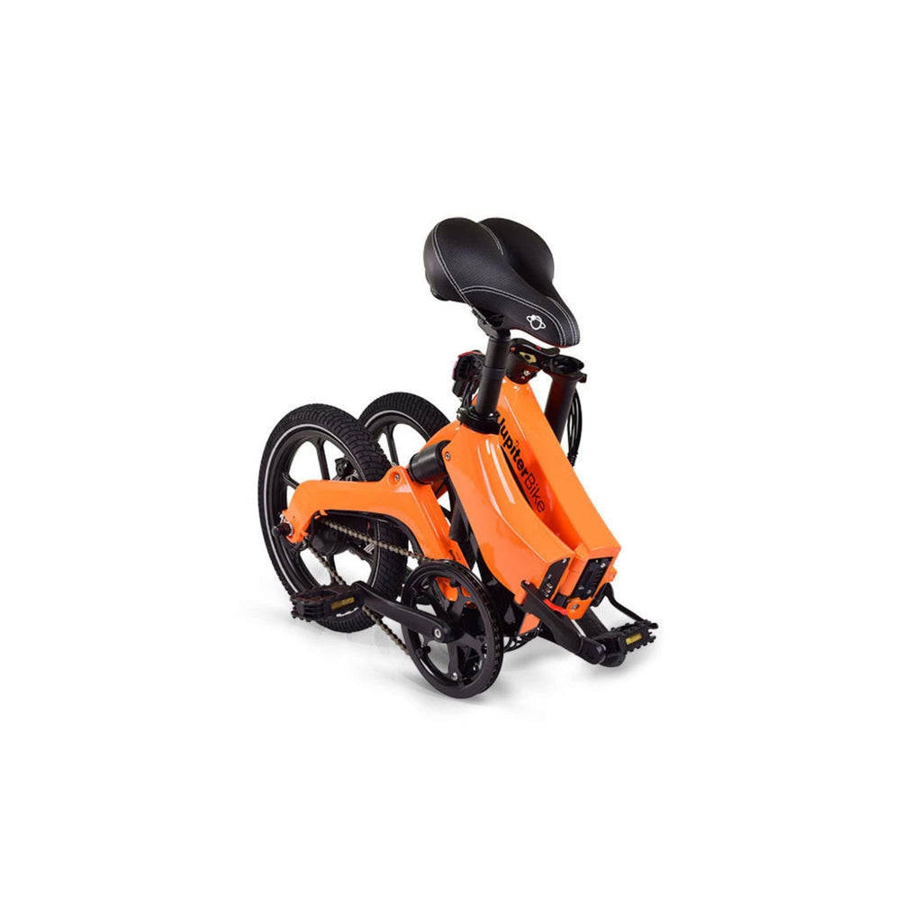 Jupiter Discovery X5 Foldable Electric Bike orange folded