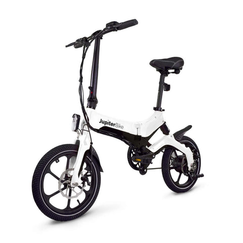 Image of Jupiter Discovery X5 Foldable Electric Bike white 3D vew