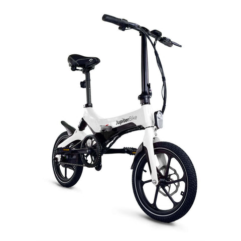 Image of Jupiter Discovery X5 Foldable Electric Bike white side angle view