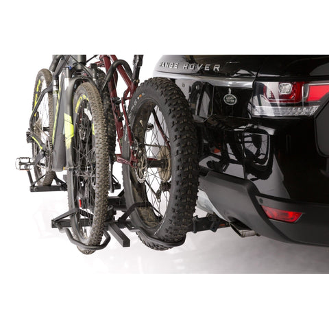 Image of KAC K2 Overdrive Sport Hitch Mounted Bike Rack fat tires close up