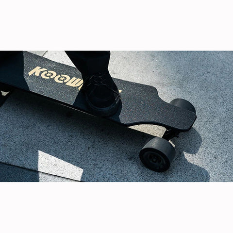 Image of Koowheel 2nd Gen Electric Skateboard Top View Close Up