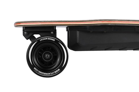 Image of Lycaon Electric Skateboard back wheels and motor
