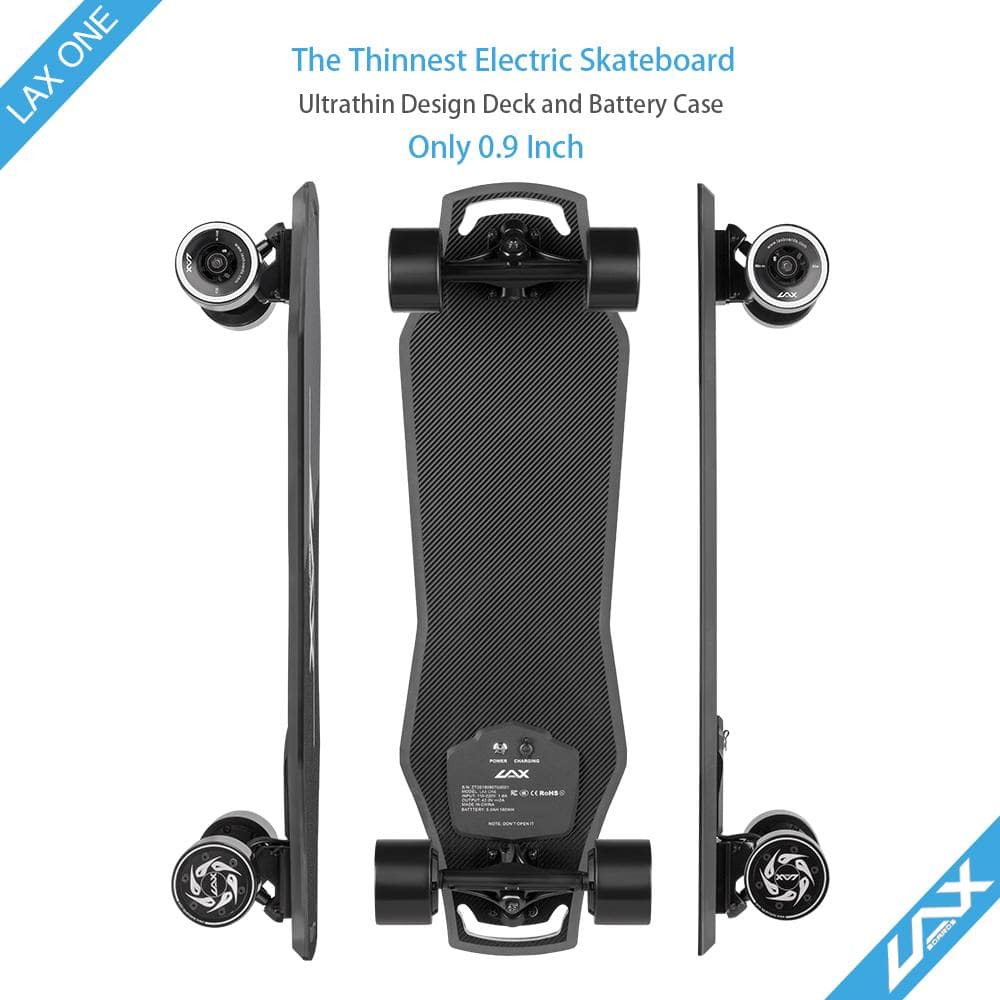 Laxboard LAX One electric Skateboard sides and bottom deck view