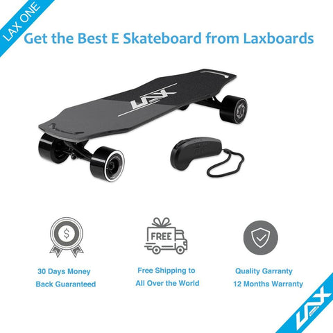 Image of Laxboard LAX One electric Skateboard shipping and warranty info