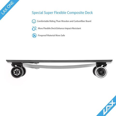 Image of Laxboard LAX One electric Skateboard side deck only angle