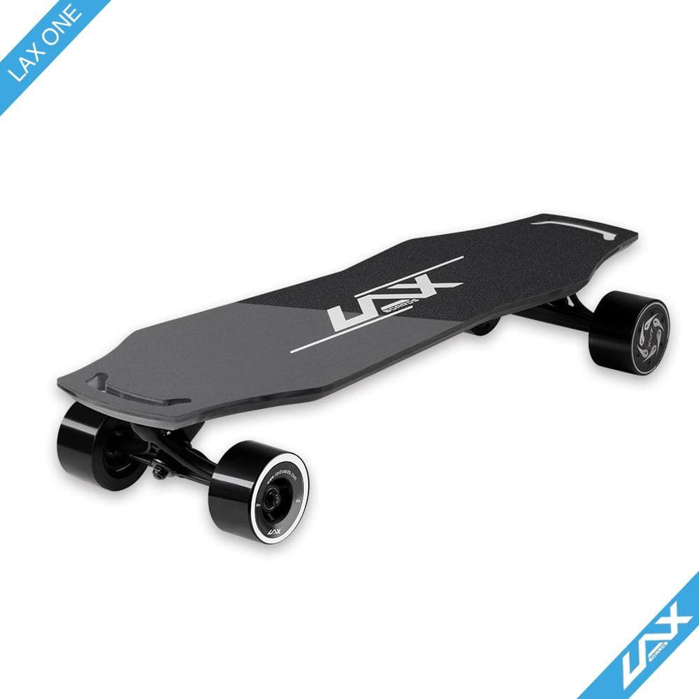 Laxboard LAX One electric Skateboard side corner view