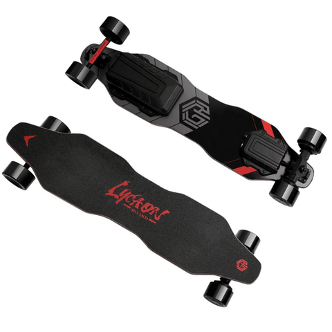 Image of Lycaon GR Electric Skateboard front and back view