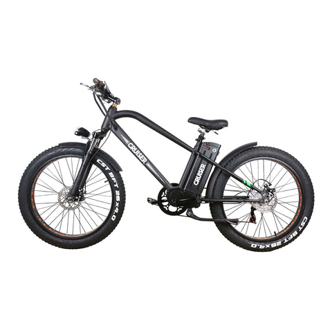 Image of NAKTO 500W Fat Tire Super Cruise Electric Bike side angle