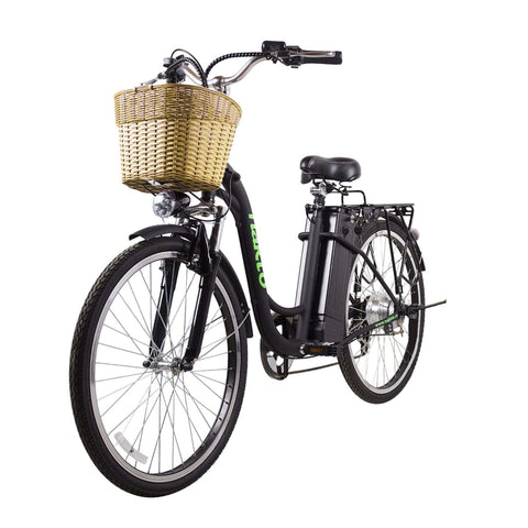 Image of NAKTO City Camel Electric Bicycle (Women) black front angle view