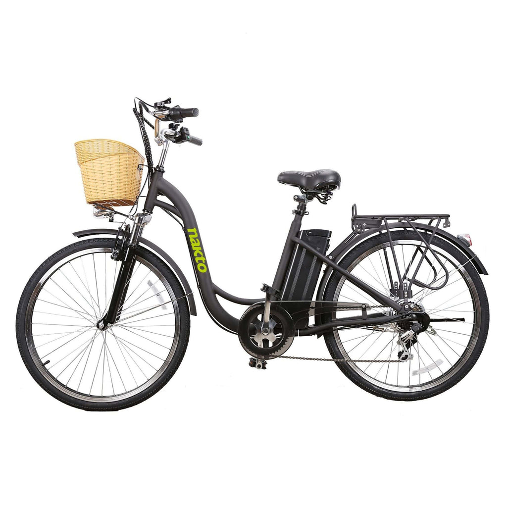 NAKTO City Camel Electric Bicycle (Women) black side view