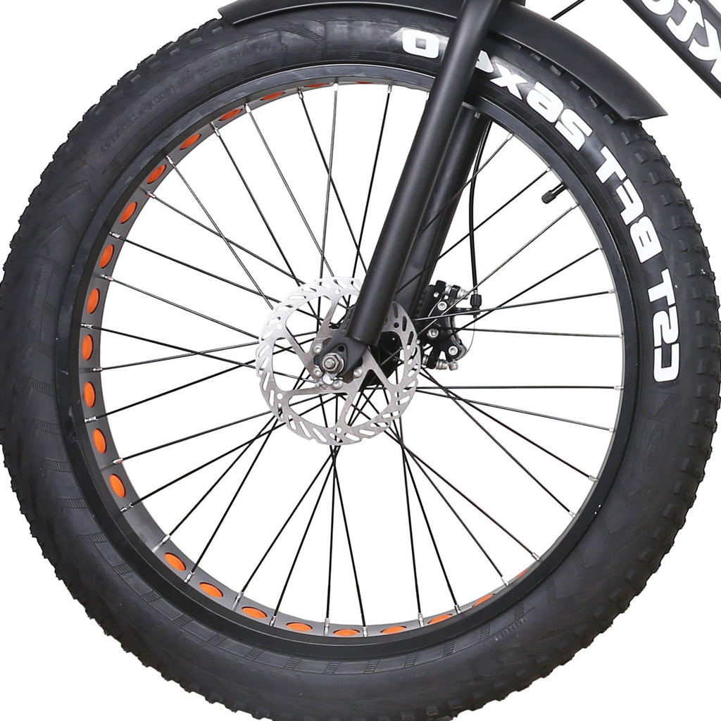 NAKTO Cruiser Fat Tire Electric Bicycle tire close up