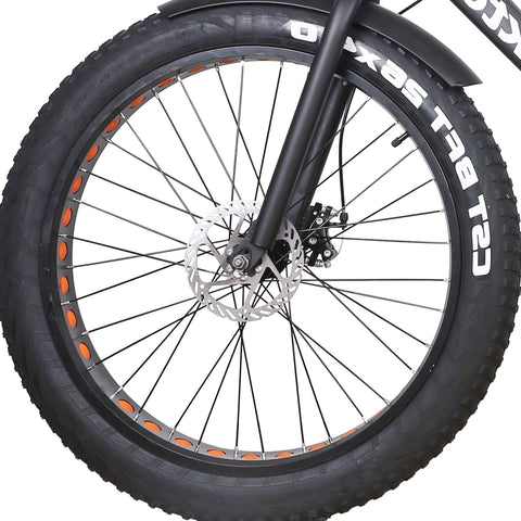 Image of NAKTO Cruiser Fat Tire Electric Bicycle tire close up