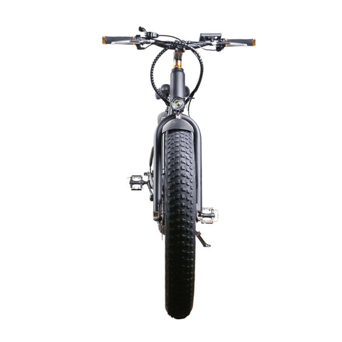 NAKTO Cruiser Fat Tire Electric Bicycle front view