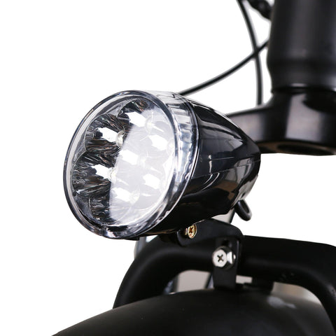Image of NAKTO Cruiser Fat Tire Electric Bicycle light close up